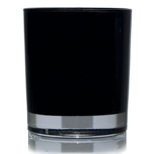Glass Container - 30cl Karen Round (Gloss Black)
