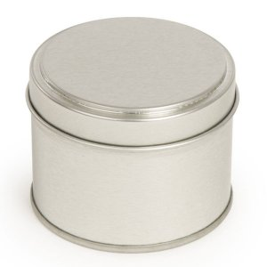 Silver Round Candle Tin With Welded Side Seam - 100ml 10/50 Tins