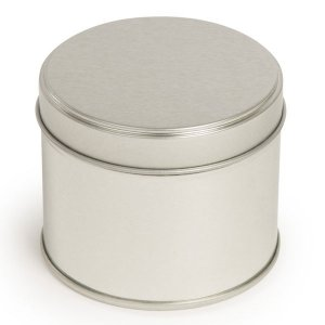 Silver Round Candle Tin With Welded Side Seam - 250ml 10/50 Tins