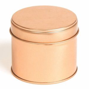 Rose Gold Round Candle Tin With Welded Side Seam - 100ml 10/50