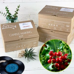 Soja Wachs rote Beeren und Holly Christmas Candle Making Kit