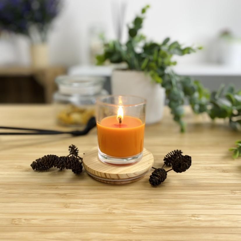 Soyaluna Wax orange candle