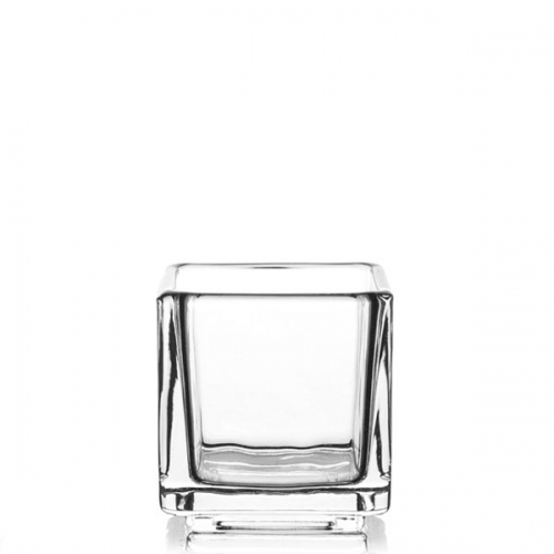 Glass Container - 8cl Medium Cube