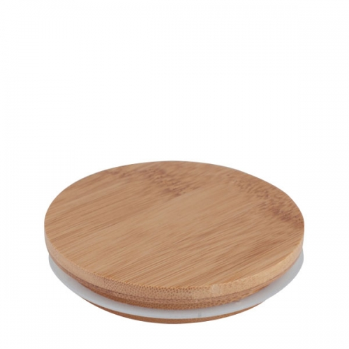 Bamboo Lid For 30cl Karen Round Glass