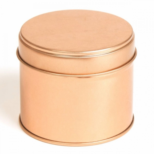 Rose Gold Round Candle Tin With Welded Side Seam - 250ml 10/50