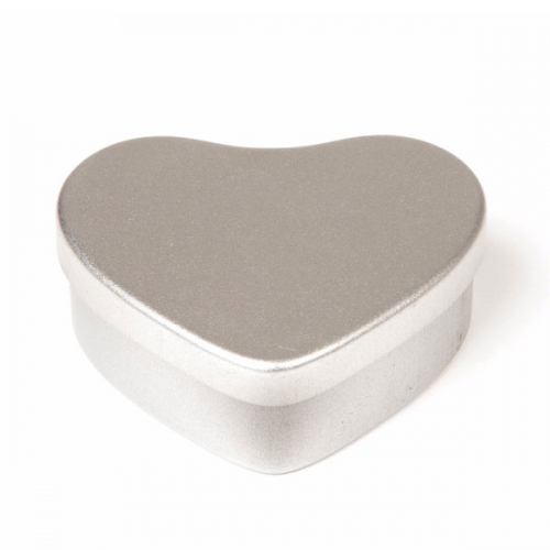 Silver Heart Candle Tin - 50ml
