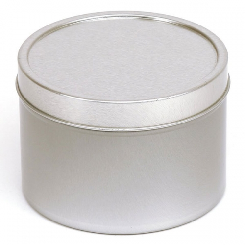 Silver Round Candle Tin - 400ml