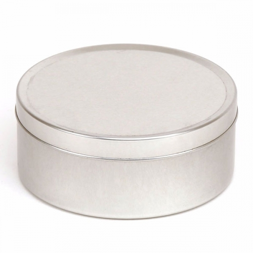 Silver Round Seamless Candle Tin - 250ml