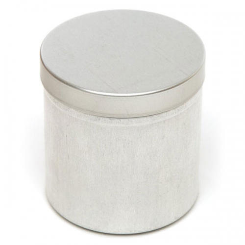 Silver Round Aluminium Candle Tin - 350ml