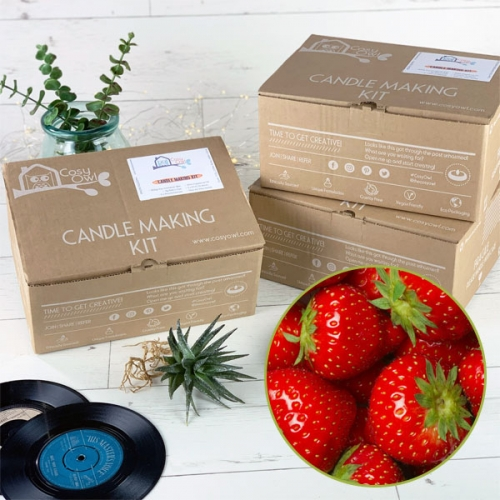 Soy Wax Sweet Strawberry Candle Making Kit